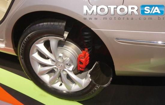 sistema de freio e pneu