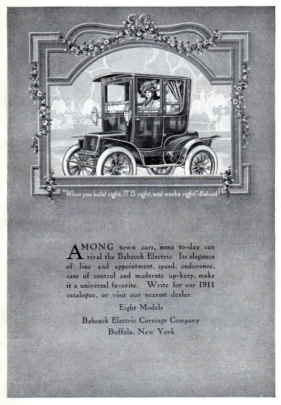 Babcock Electric Carriages - 1911