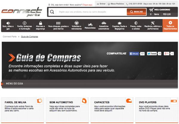 Acessórios Automotivos - Guia de Compras Connect Parts